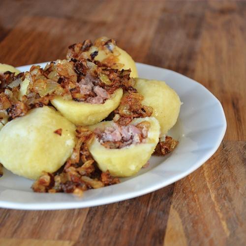 Knedlík bramborový s uzeným masem 60g